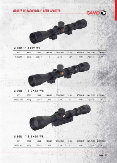 hunting and observation TELESCOPIC VIEWFINDERS