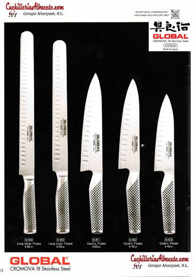 professional knives GLOBAL FORGED JAPANESE KNIVES