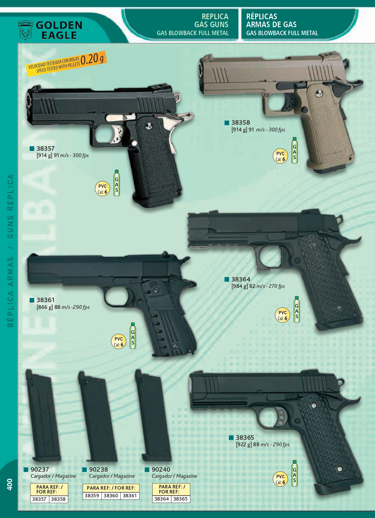 REPLICAS DE ARMAS - Golden Eagle