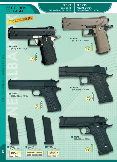 airsoft pistolas gas REPLICA De ARMA