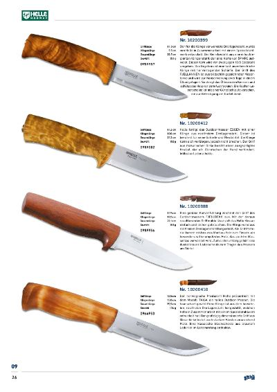 hunting knives HELLE NORDIC HUNTING KNIVES