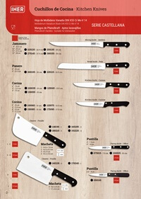 professional knives CASTELLANA SERIES KITCHEN KNIVES