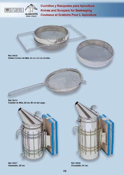 professional knives SMOKERS AND STRAINERS FOR BEEKEEPING
