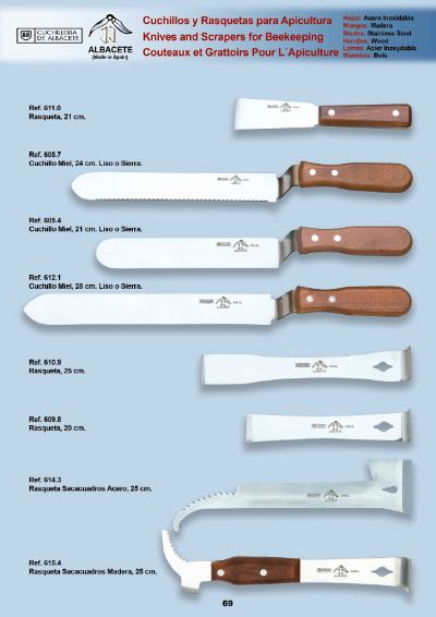 professional knives KNIVES RACKETS BEEKEEPERS