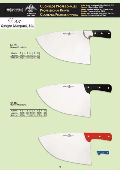 professional knives FILLETERS KNIVES