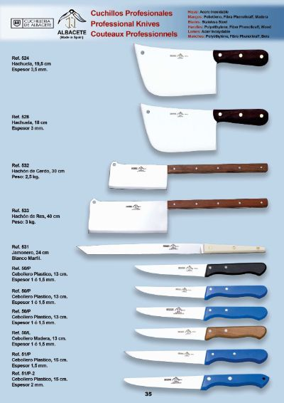 professional knives KNIVES AND KITCHEN UTENSILS