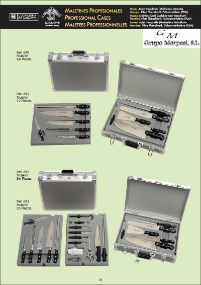 professional knives BRIEFCASES FOR PROFESSIONAL CHEFS