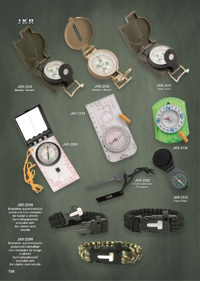 camping and survival COMPASSES AND SURVIVAL BRACELETS