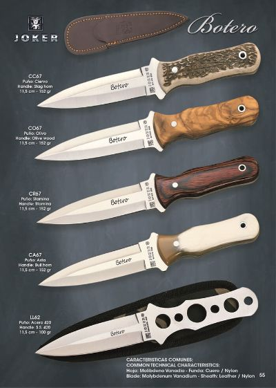 tactical knives launchers BOTERO