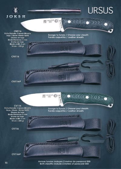hunting knives mountain knives BS9 URSUS