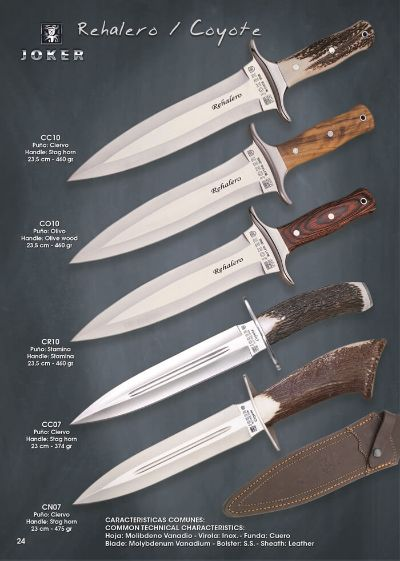 hunting knives COYOTE Y REHALERO