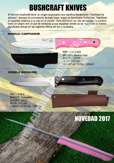tactical knives PINK BUSHCRAFT