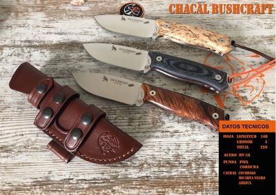 cuchillos tacticos y caza supervivencia CHACAL BUSHCRAFT
