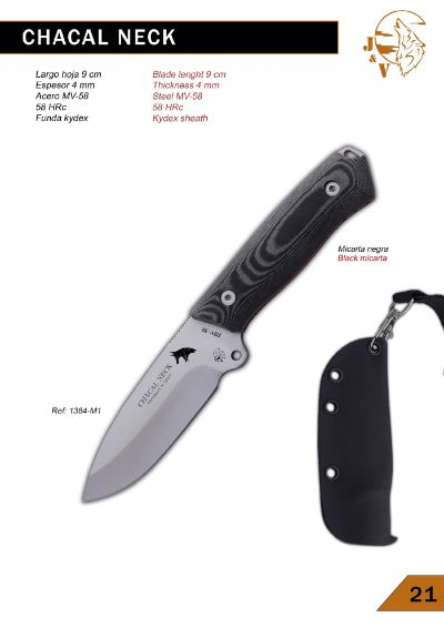 tactical knives CHACAL NECK