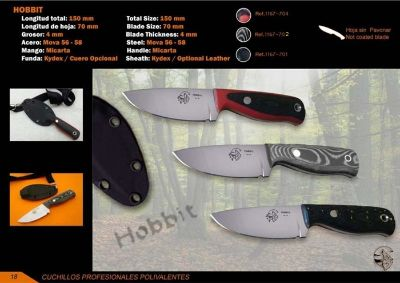 cuchillos tacticos y caza supervivencia CUCHILLO SUPERVIVENCIA HOBBIT