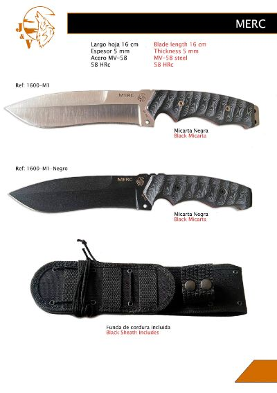 tactical knives MERC