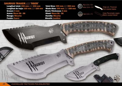 hunting knives SURVIVAL KNIFE SAURIUS