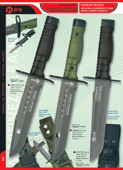 tactical knives KNIVES BAYONETS TYRANT