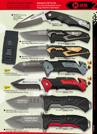 tactical knives TACTICAL KNIVES TITANIUM