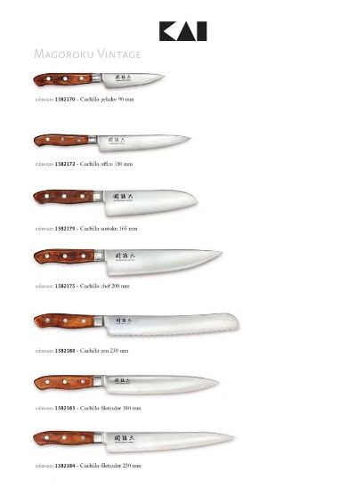 professional knives KAI MAGOROKU VINTAGE JAPANESE KNIVES