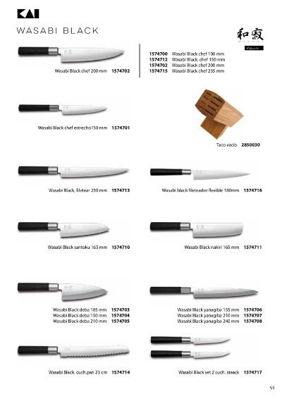 professional knives JAPANESE KNIVES WASABI BLACK