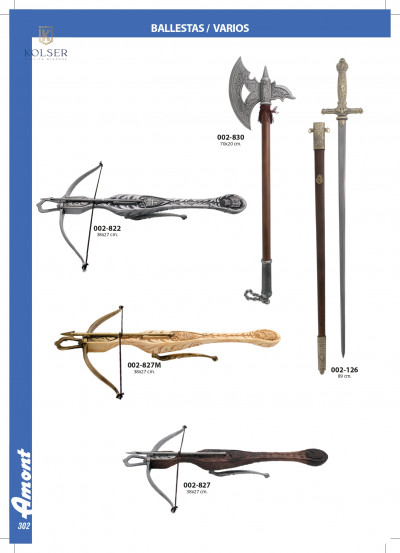 arms antique replicas CROSSBOWS AND AXES