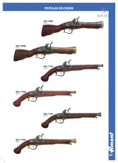 arms antique replicas FLINTLOCK PISTOLS