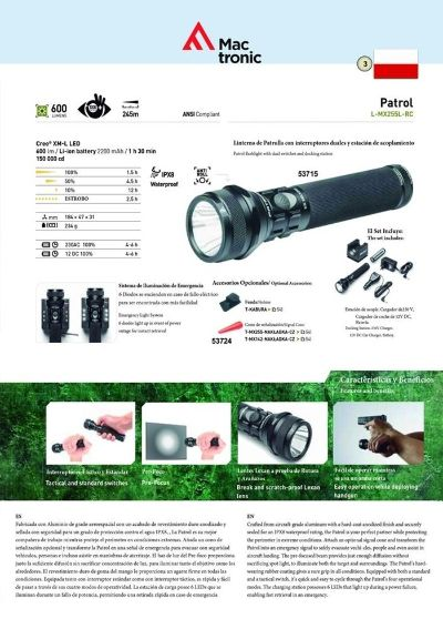 camping and survival PATROL TACTICAL FLASHLIGHT