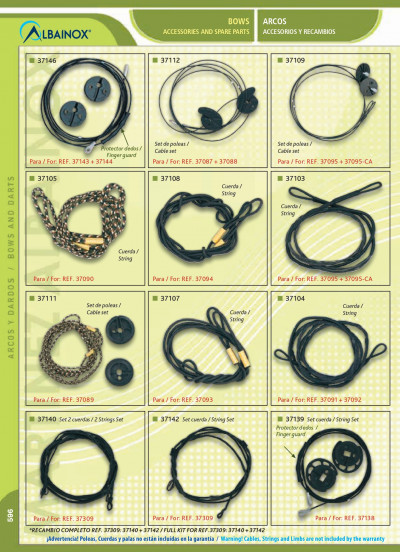 arcs accessories and spare parts ACCESSORIES AND SPARE PARTS BOWS
