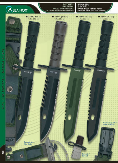tactical knives BAYONET TACTICAL KNIFE
