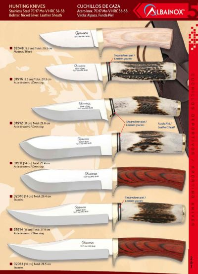 hunting knives KNIVES WITH NICKEL SILVER BOLSTER