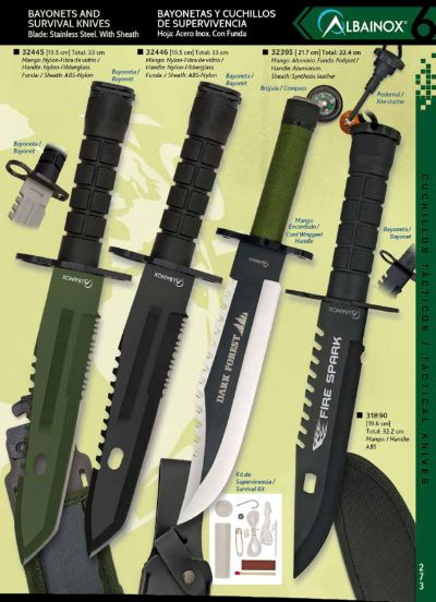 tactical knives DARK FOREST AND FIRE SPARK KNIVES