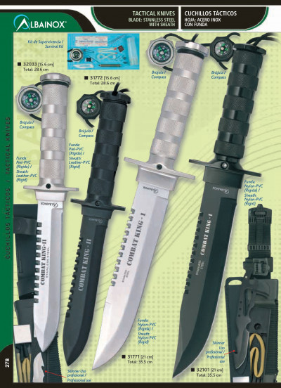 hunting knives COMBAT KING-I AND COMBAT KING-II