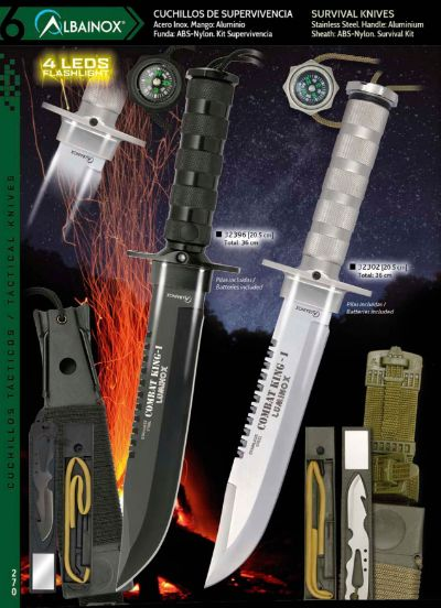 cuchillos tacticos y caza supervivencia COMBAT KING-1 LUMINOX