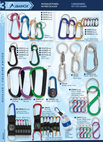 camping and survival CARABINERS