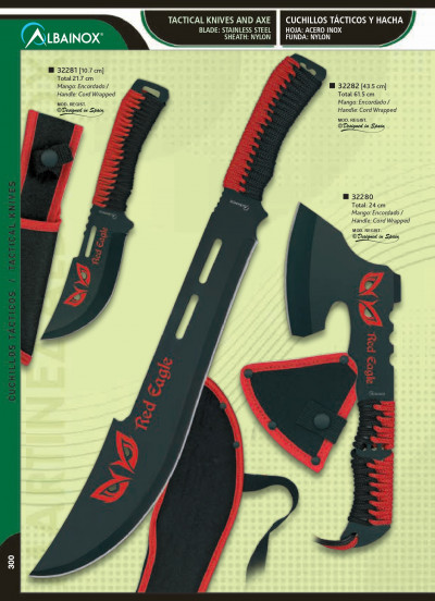 cuchillos tacticos RED EAGLE