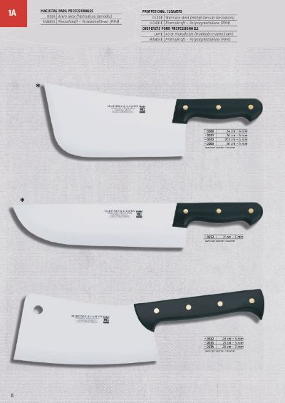 professional knives CLEAVERS PROFESSIONALS