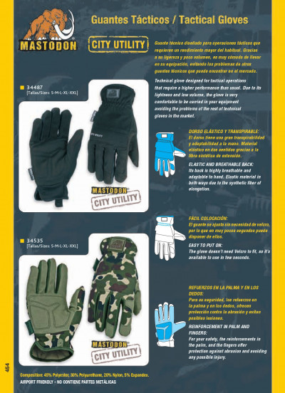 objects personal TACTICAL GLOVES CITY UTILITY