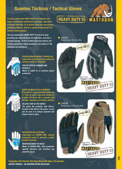 objects personal clothing TACTICAL GLOVES HEAVY DUTY II