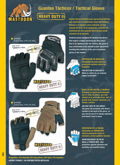 objects personal clothing TACTICAL GLOVES MASTODON