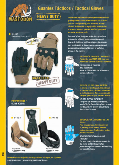 objects personal TACTICAL GLOVES HEAVY DUTY