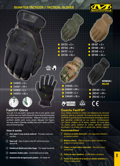 objects personal clothing GLOVES FASTFIT MECHANIX WEAR
