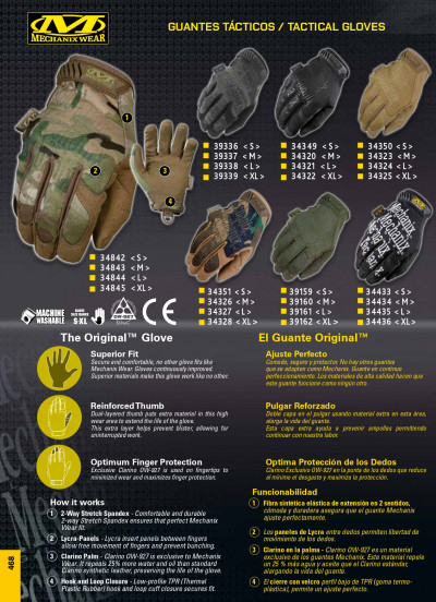 objetos personales vestimenta GUANTES ORIGINAL MECHANIX WEAR