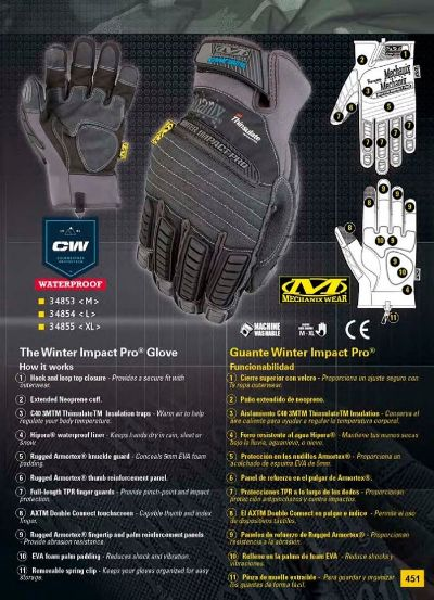 objects personal GLOVES WINTER IMPACT PRO MECHANIX WEAR