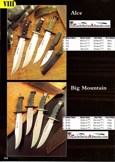 hunting knives mountain knives KNIVES MUELA ALCE BIG MOUNTAIN