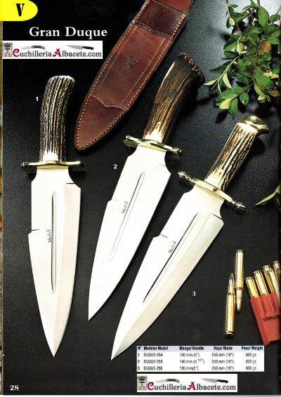 hunting knives HUNTING KNIVES MUELA GRAN DUQUE