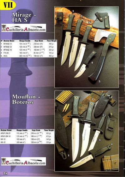 tactical knives MILITARY KNIVES MIRAGE MOUFLON