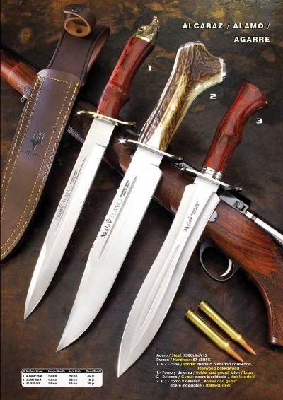 hunting knives mountain knives MUELA ALCAZAR ALAMO AND AGARRE