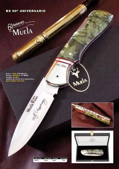pocketknives classic spain luxury MUELA 60TH ANNIVERSARY POCKET KNIFE