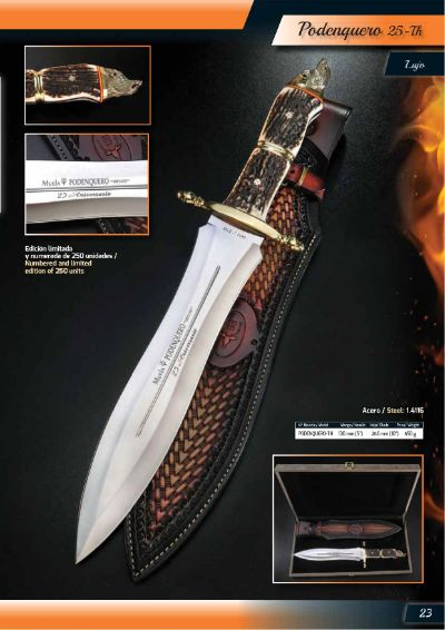 luxury knives luxury knives PODENQUERO 25TH ANNIVERSARY